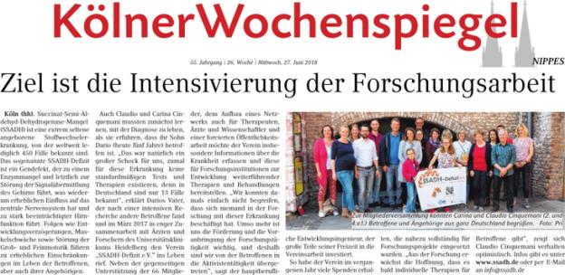 2018.06.26Titelseite Kölner Wochenspiegel